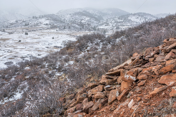 Colorado hegyek park erőd hó tél Stock fotó © PixelsAway