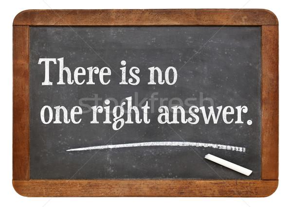 Senki helyes válasz szöveg klasszikus iskolatábla Stock fotó © PixelsAway