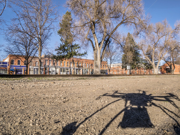 quadcopter drone shadow and city Stock photo © PixelsAway