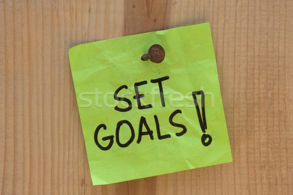 Conjunto motivacional lembrete postar nota Foto stock © PixelsAway