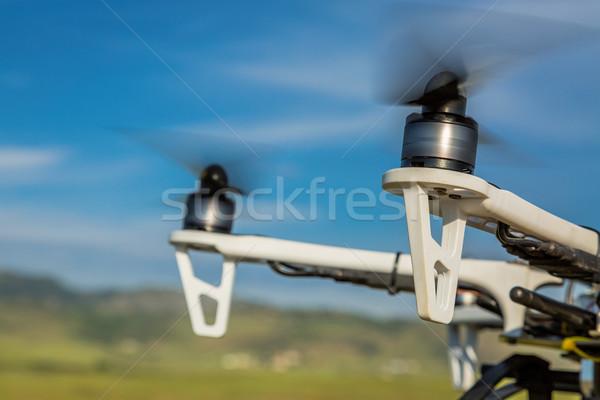 Propeller absztrakt elmosódott repülés technológia zöld Stock fotó © PixelsAway