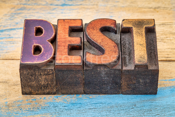 best word in vintage wood type Stock photo © PixelsAway