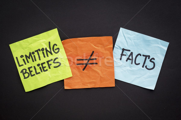 limiting beliefs are not facts Stock photo © PixelsAway