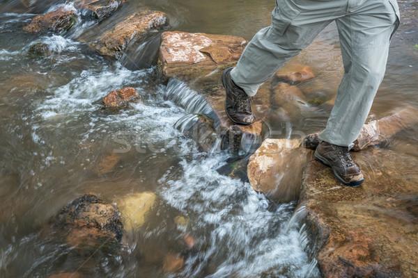 Andarilho montanha enseada pernas masculino Colorado Foto stock © PixelsAway