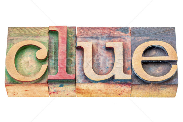clue word abstract  Stock photo © PixelsAway