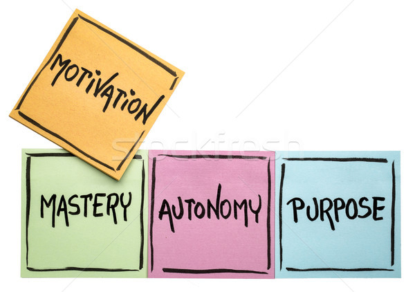mastery, autonomy, purpose - motivation concept Stock photo © PixelsAway