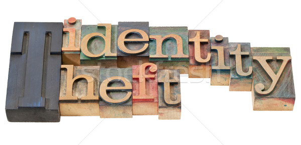 Kradzież tożsamości typu odizolowany wyrażenie vintage Zdjęcia stock © PixelsAway
