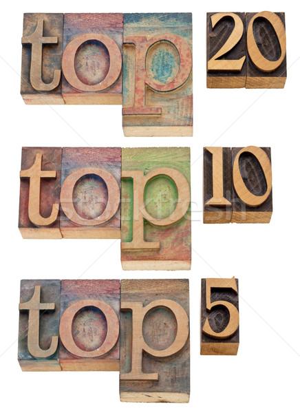 top 20, 10, 5 Stock photo © PixelsAway