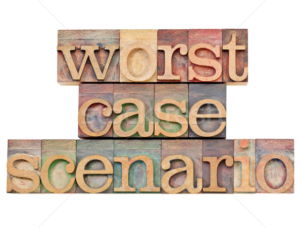 worst case scenario - risk concept Stock photo © PixelsAway