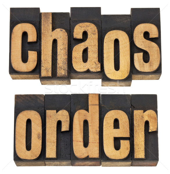 chaos and order Stock photo © PixelsAway