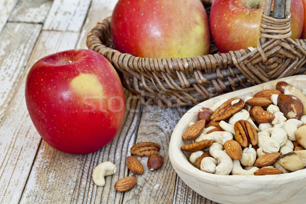 apples and nuts Stock photo © PixelsAway