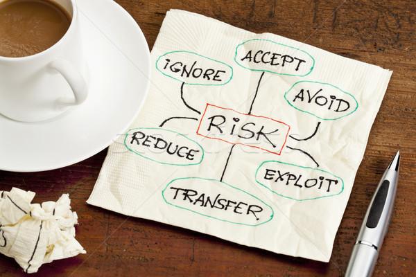risk management concept on a napkin Stock photo © PixelsAway