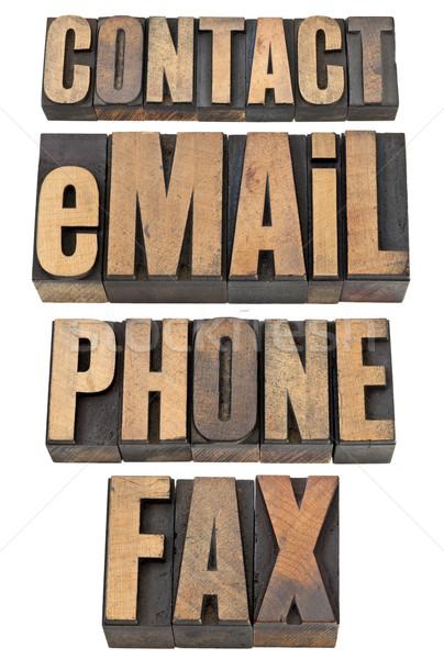 連絡 電話 ファックス 言葉 セット ストックフォト © PixelsAway