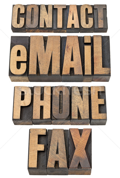 Contact courriel téléphone fax mot Photo stock © PixelsAway