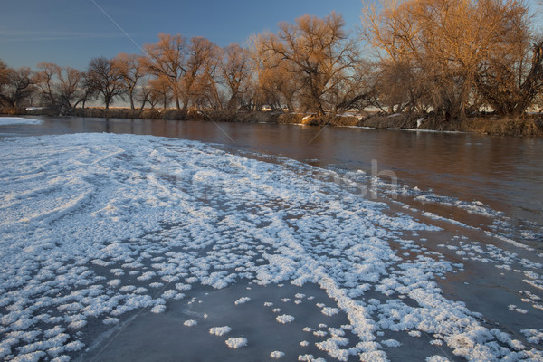 winter on South Platte River near Greeley, Colorado Stock photo © PixelsAway