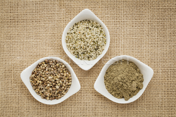 seeds, hearts and hemp protein Stock photo © PixelsAway