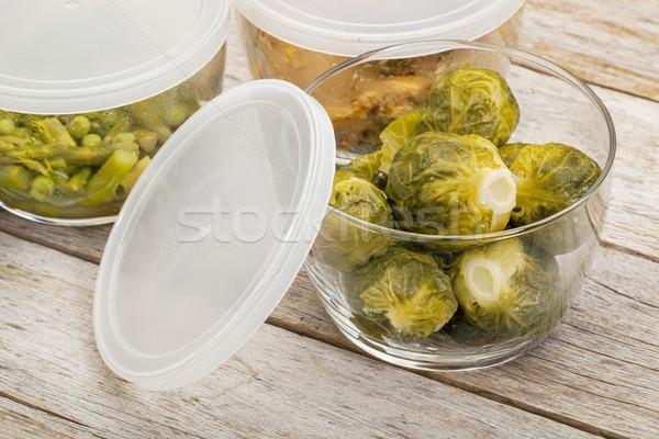 Vacsora étel üveg maradék tyúk Brüsszel Stock fotó © PixelsAway