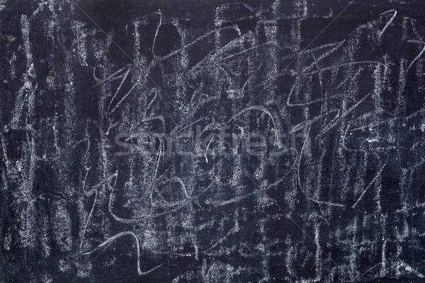 Fehér kréta textúra iskolatábla véletlenszerű vonalak Stock fotó © PixelsAway