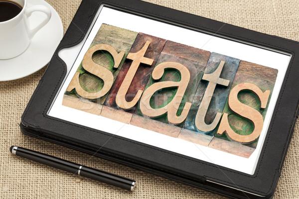 Statisztika statisztika fa szó klasszikus Stock fotó © PixelsAway