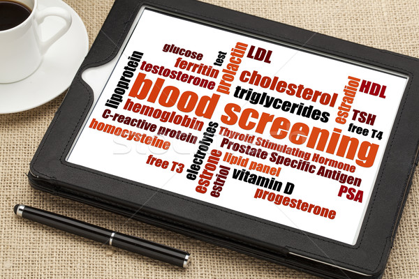 blood screening word cloud Stock photo © PixelsAway