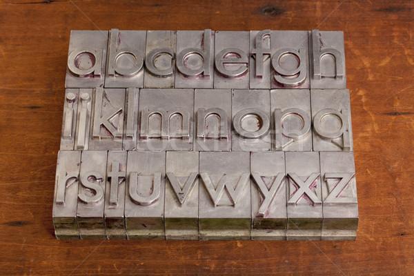 alphabet in metal printing blocks Stock photo © PixelsAway