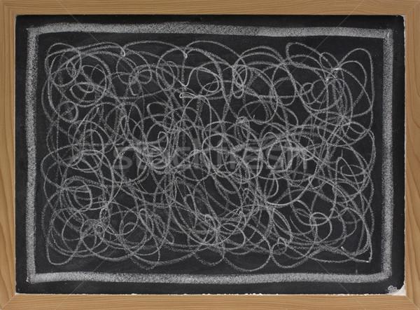 white chalk scribble on blackboard Stock photo © PixelsAway