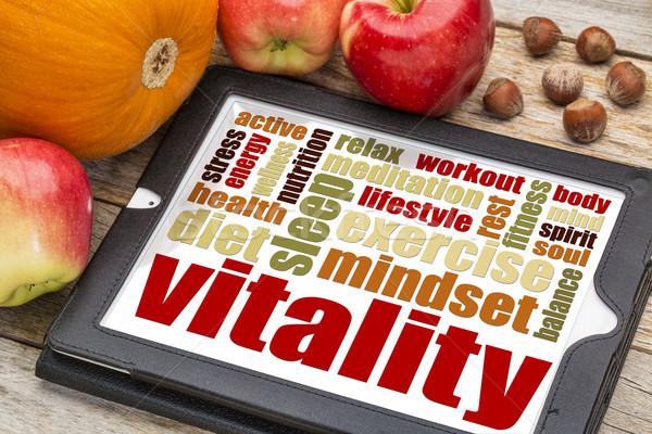 vitality concept on digital tablet Stock photo © PixelsAway