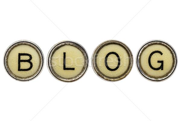 blog word in typewriter keys Stock photo © PixelsAway