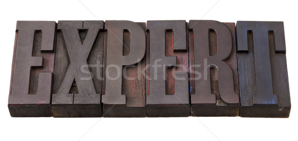 expert word in letterpress type Stock photo © PixelsAway