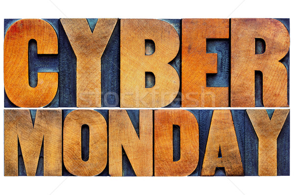 Stock photo: Cyber Monday - internet shopping concept