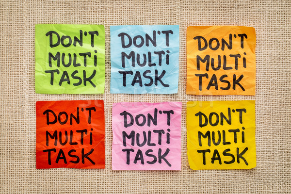Stock photo: do not multitask - sticky note abstract