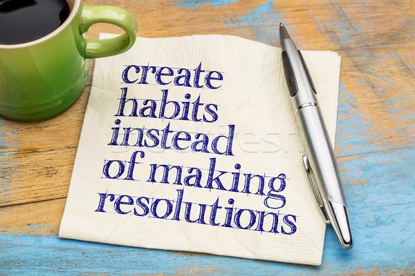 Készít motivációs tanács emlékeztető szalvéta csésze Stock fotó © PixelsAway