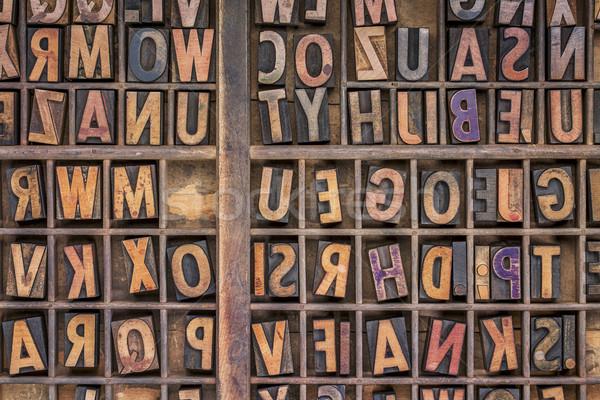 wood type printing blocks background Stock photo © PixelsAway