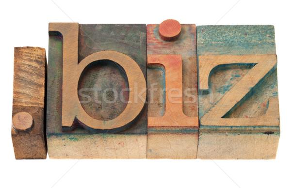 Business internet domein vintage houten Stockfoto © PixelsAway