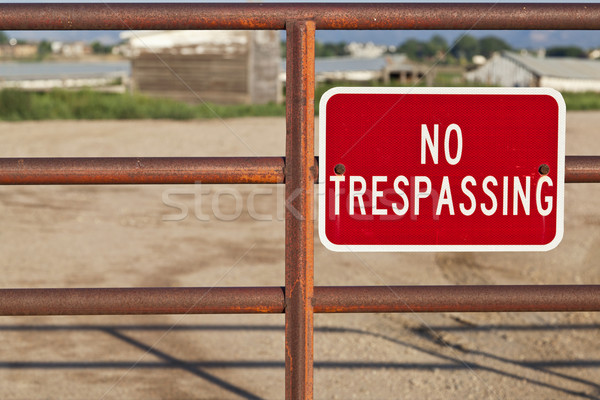 no trespassing sign Stock photo © PixelsAway