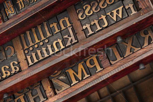 typesetter drawers Stock photo © PixelsAway