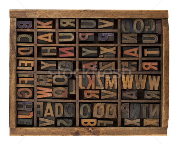 alphabet in antique wood letterpress types Stock photo © PixelsAway