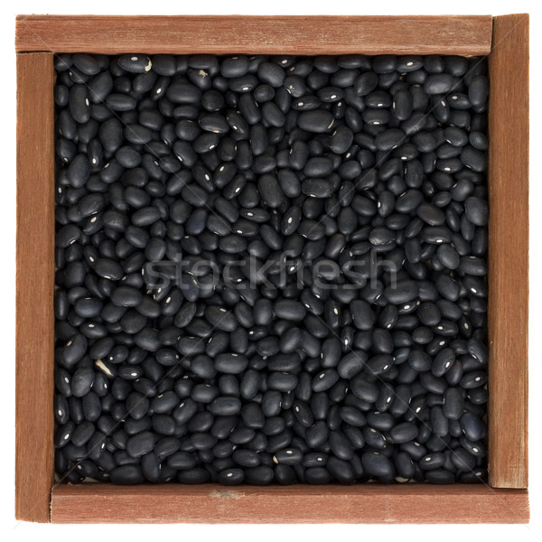 black turtle beans in a wooden box Stock photo © PixelsAway