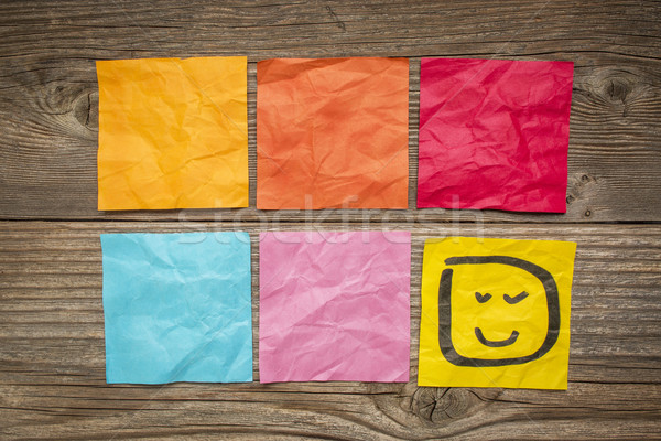 blank sticky notes with smiley Stock photo © PixelsAway
