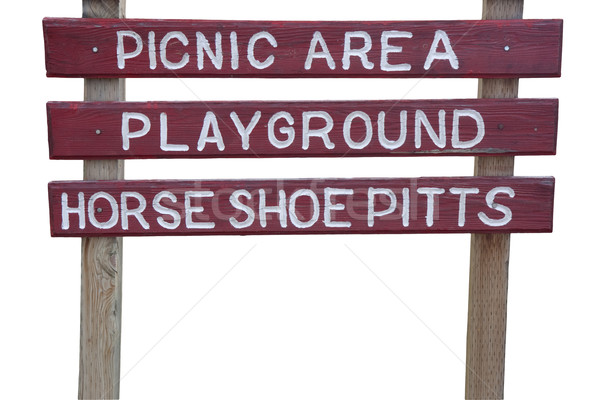 picnic area and playground sign Stock photo © PixelsAway