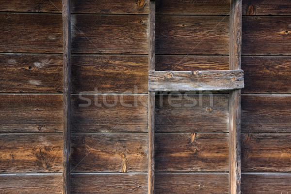 weathered wood of old barn wall Stock photo © PixelsAway