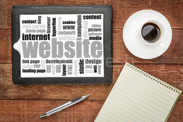 Website woordwolk tablet digitale top Stockfoto © PixelsAway