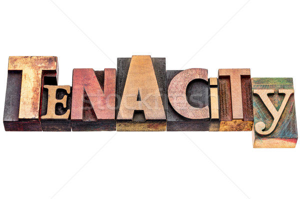 tenacity word abstract typography Stock photo © PixelsAway