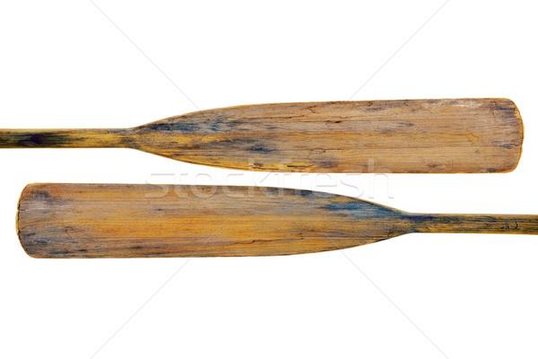 old wooden grunge paddles Stock photo © PixelsAway