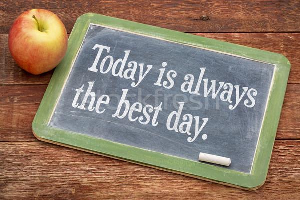 Hoje sempre o melhor dia positivo palavras Foto stock © PixelsAway