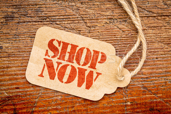 shop now - price tag sign Stock photo © PixelsAway