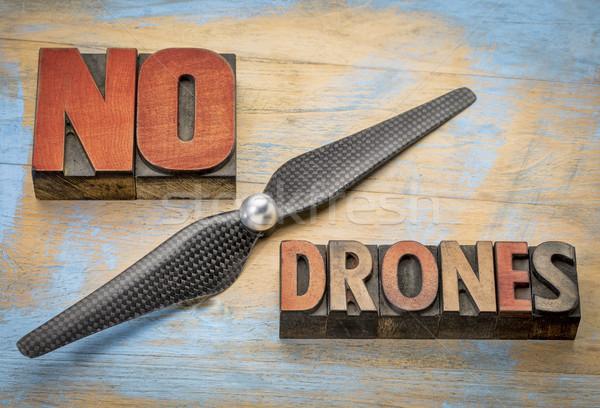 No drones sign or banner Stock photo © PixelsAway