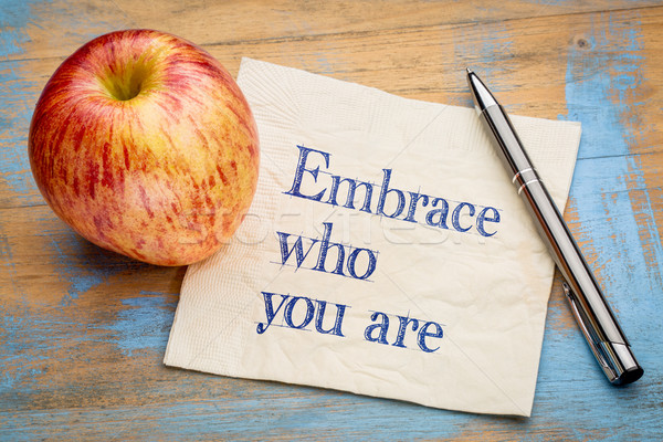 Embrace who you are Stock photo © PixelsAway
