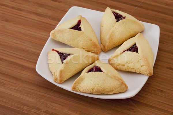 three-cornered  hamantaschen cookies Stock photo © PixelsAway