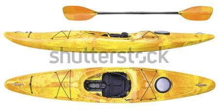 crossover whitewater kayak isolated Stock photo © PixelsAway